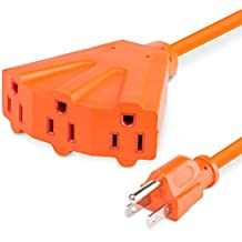 Extension Cord with 3 Outlet (25FT / 7.62M), Fosmon UL Listed 16/3 SJTW 16AWG 125V 13A 1625Watt Grounded Durable Outdoor Extension Power Cord - Orange