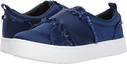 Sam Edelman Women's Levine Sneaker, Poseidon Blue Satin, 5.5 Medium - Platform Blue Satin
