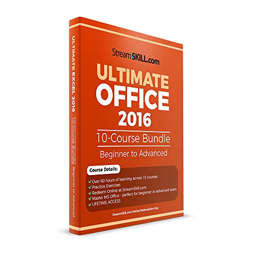 Ms Office Bundle - Office 2016 Online Training by Stream Skill. 10-Course Office 2016 Course Bundle