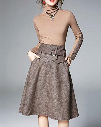 Stylish Suit Picture As Comfy Two Dress Turtleneck Party Graceful Women's Piece Midi PqPt1OWYU