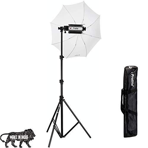 Prolite Single Porta Kit with 9 ft Light Stand, Porta Light, Umbrella, 1000W Halogen Tube, Carry Bag for Photography & Videography