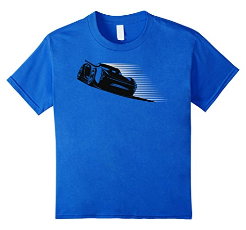 Kids Disney Pixar Jackson Storm Retro Drift Graphic T-Shirt 6 Royal Blue (T-shirt Youth Jackson)