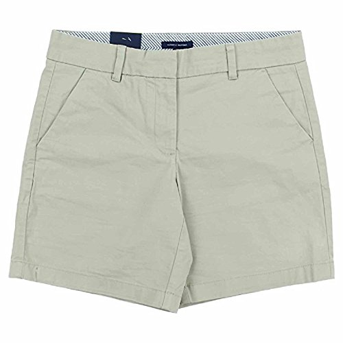 Tommy Hilfiger Women's Flat Front Shorts, Cobblestone, 2
