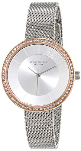 Kenneth Cole New York Women's Analog-Quartz Watch with Stainless-Steel Strap, Silver, 12 (Model: KC50198001)
