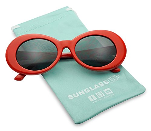991b8dcb253 Colorful Oval Kurt Cobain Inspired Clout Goggles Mod Round Pop Fashion Nirvana  Sunglasses