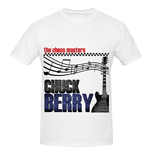 Chuck Berry Chess Masters Rock Album Mens O Neck Customized Tee White (Ps2 Chess)