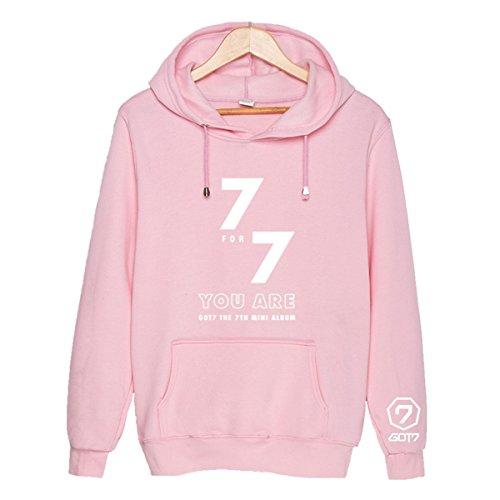 6c54393308d1aa GOT7 Album 7FOR7 You Are hoodie Jackson JB Mark Sweatshirt Sweater M Pink