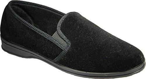 Protector de pantalla y slip-diseño de hojas de Mirak para hombre con Shepton con punta abierta para hombre en el interior sobre-al aire zapatos de goma hecha en el uso de negro