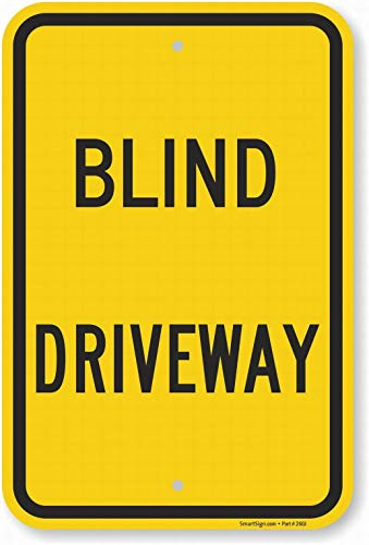 Fsdva Wall Signs Notice Warning Sign Decor 8x12 Tin Metal Signs Blind Driveway Safety Sign Novelty Signs