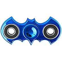 Zip Spinners- Fidget Spinner Batman Toy with Ultra Speed Deep Groove Bearings- Autism Toys Best Boredom Reducer Stress Toy Hand Spinner Fidget Toy for Kids & Adults (Blue- Batarang)
