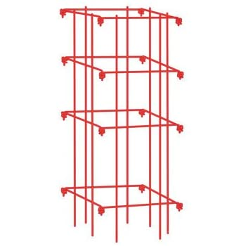 Square Tomato Cage, Single, Red