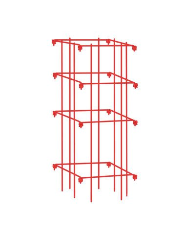 Square Tomato Cage Single Red