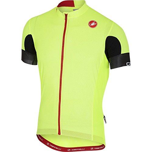Castelli Aero Race 4.1 Solid Full-Zip Jersey - Men's Yellow Fluo, XL
