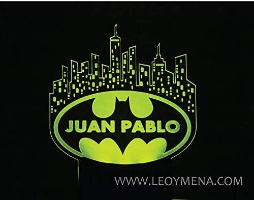 LEOANDMENA Batman Topper para Tarta de Cumpleaños Iluminado ...