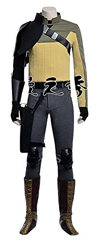 [Mtxc Men's Star Wars Rebels Cosplay Costume Kanan Jarrus Full Set Size X-large Yellow] (Rebel Star Wars Costume)