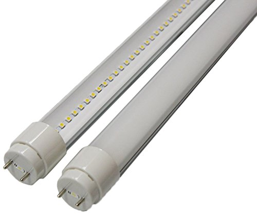 Goodlite G-20430 10-watt 2-Feet T8 T10 or T12 LED Tube 20W 17W Fluorescent Bulb Replacement, UL Approved Single End Power, Clear