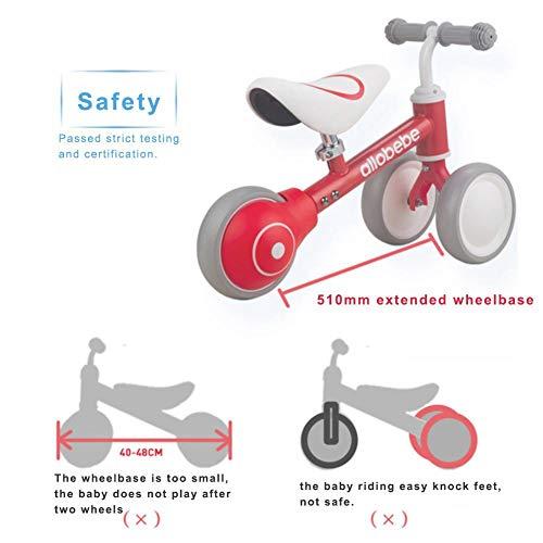 xiangpian183 Baby Balance Bike, 3 Ruedas Estable Bicicleta Niños ...