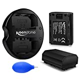 Keenstone NP-FZ100 Battery (2 Pack) with Dual USB Battery Charger for Sony NP-FZ100 and Alpha A7 III, A7R III,Alpha 9S, A9 Digital Cameras
