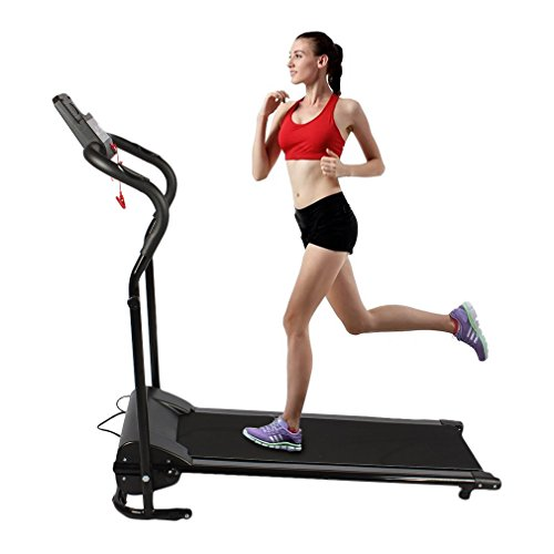 Water-chestnut Homgrace Folding Electric Treadmill Running Machine. Mini Silent Home Motorized Running Machine with LED Display (black 1)