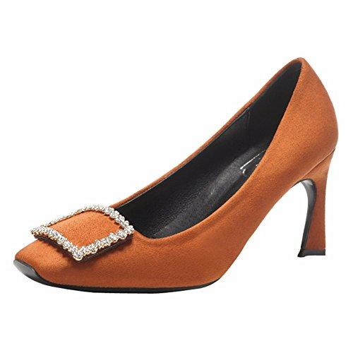 YUCH La Mujer Sola Hebilla Lado Ocio Zapatos Zapatos Diariamente jiao