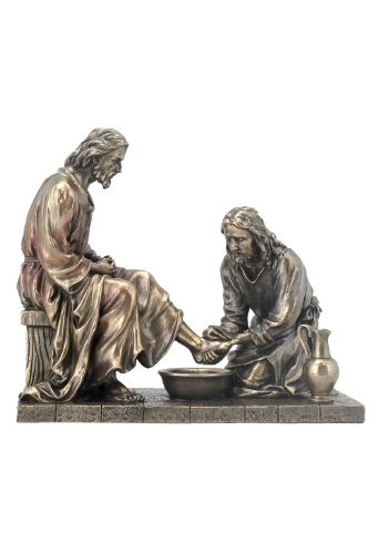 (Jesus Washing His Disciple's Feet Statue Sculpture (Bronze))