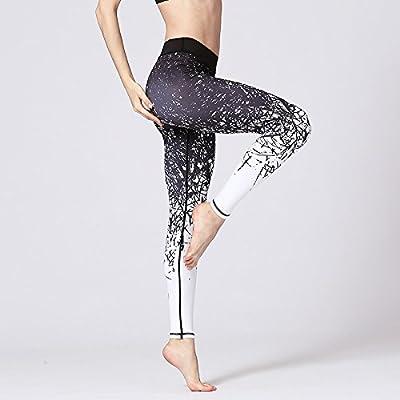 Xuanytp Pantalon de yoga Pantalons Élastiques Skinny Taille Haute Femmes Fitness Workout Leggings Pantalons De Survêtement À Séchage Rapide