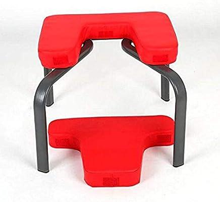 Soporte para Silla de Yoga con reposacabezas para Alivio y Fitness Rojo Tonyko Taburete de Yoga reposacabezas y reposacabezas