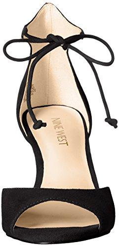 Sandalo Nero In Pelle Scamosciata Con Suesia Delle Nove Donne Dellovest