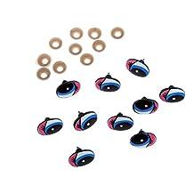 MonkeyJack 10Pcs 22x16mm Plastic Safety Eyes for Making Teddy Bear Doll Animal Crafts