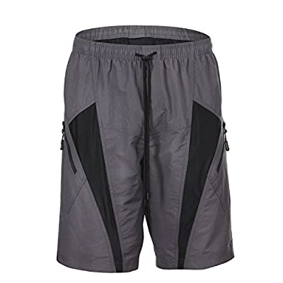 HAMSWAN Men's Loose-Fit Padded Breathable Bike Shorts for Cycling