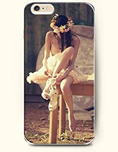 iPhone 6 Plus Case 5.5 Inches Girl with Garland Putting on High-heeled Shoes - Hard Back Plastic Case OOFIT Authentic