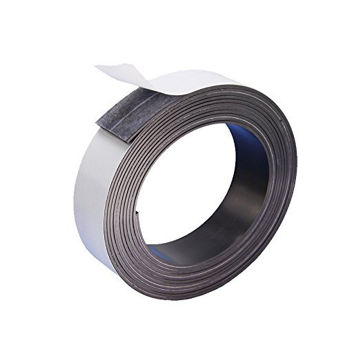 DGQ Flexible Magnetic Tape 3/4-Inch by 10-Feet Strong Adhesive Magnet Strip - Perfect for Fridge Organisation, Crafts & DIY Projects, White Board, Hanging & Organizing Light Objects ()