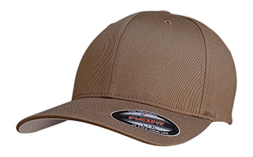 762d047510774 The Hat Pros Coyote Brown Flexfit Fitted Hat