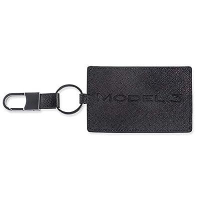 TapTes Car Key Holder Card Case Leather Compatible with Tesla Model 3