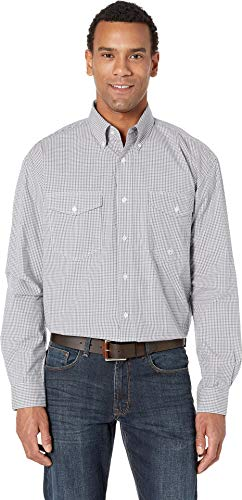 Roper Men's 2454 Mini Check Grey Grey Large