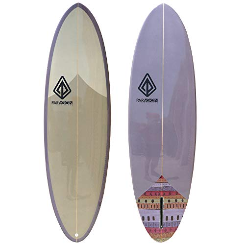 Paragon Surfboards Retro Egg Surfboard | Fun & Easy to Ride | Single Fin Performance Surf Board | Ideal for Intermediate…