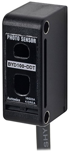 AUTONICS BYD30-DDT Sensor, Photo, Diffuse Reflective, Light On, 30mm Sensing, NPN Output, 12-24 VDC ()
