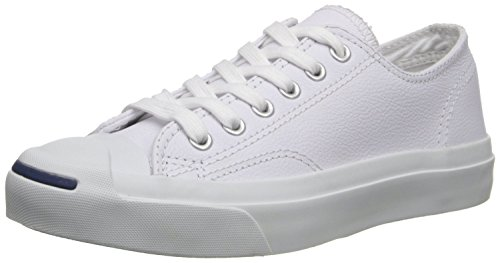 Converse Jack Purcell Leather Fashion-Sneakers, White, 5.5 B(M) US Women / 4 D(M) US Men