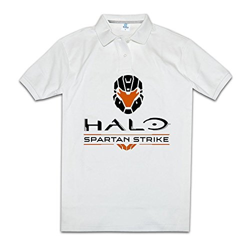 Price comparison product image Halo Spartan Strike Shoot 'em Up Game Men Polo Shirts Cool Collared Shirts