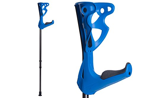 FDI OptiComfort Lightweight Forearm Crutches, Size: 4'3-6'6, 2 Crutches, Blue ()