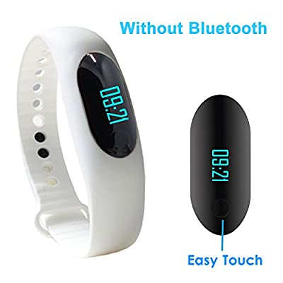 Smart Bracelet, YAMAY® Fitness Tracker Smart Band Wristband Smartband with Touch Screen Activity Tracker Pedometer Sleep Monitor Calories Burned Alarm Clock for Sport Running Walking Women Men White