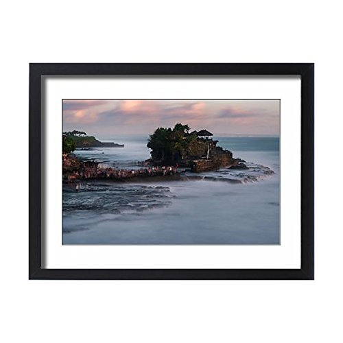 Framed 24x18 Print of Pura Tanah Lot,The famous place Temple of Bali, Indonesia (14721269) by Media Storehouse