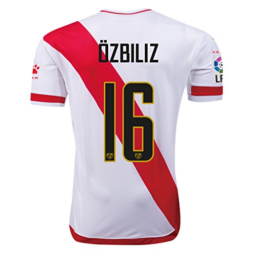 fan products of Rayo Vallecano #16 Ozbiliz 2015/16 Home Soccer Adult Football Jersey