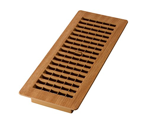 - Decor Grates PL412-OC 4-Inch by 12-Inch (Duct opening measurements) Plastic Floor Register, Oak Caramel