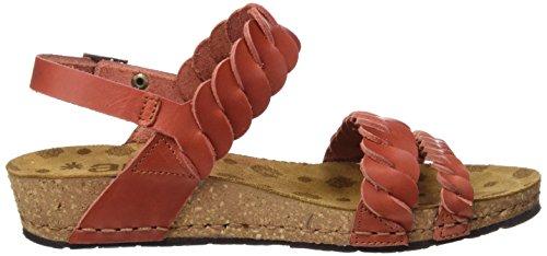 ART 0733 Mojave Pompei, Sandalias con Plataforma para Mujer Rojo (Granada)