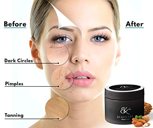 Beaukare night cream for face, neck & skin | Anti Aging Cream for Women & Men with Retional, jojoba & glycerine | Fight… 2021 July 1. Beaukare night cream is the ultimate solution which helps to smooth the look of wrinkles, even skin tone, and visibly firm skin for a difference you can see in just as little as 4 weeks, revealing smoother and younger-looking skin. 2. Helps to improve uneven skin Tone and Texture by reducing fine lines, acne spots, dark circles, wrinkle and sun damage. Specially designed to prevent breakouts, clog pores and avoid irritation. Ideal for all skin types. 3. Night Cream will suit your skin not because we have formulated this cream to be used on all skin types without a problem. This cream is non-toxic and also free from harmful chemical substances like fragrances, dyes, and parabens.