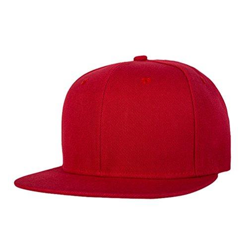 Hop Hats Baseball Hip Hats Unisex Snapback Plano Clásico de Rojo LINNUO Béisbol Cap Gorras Sombrero Accesorios aqCp7wxO