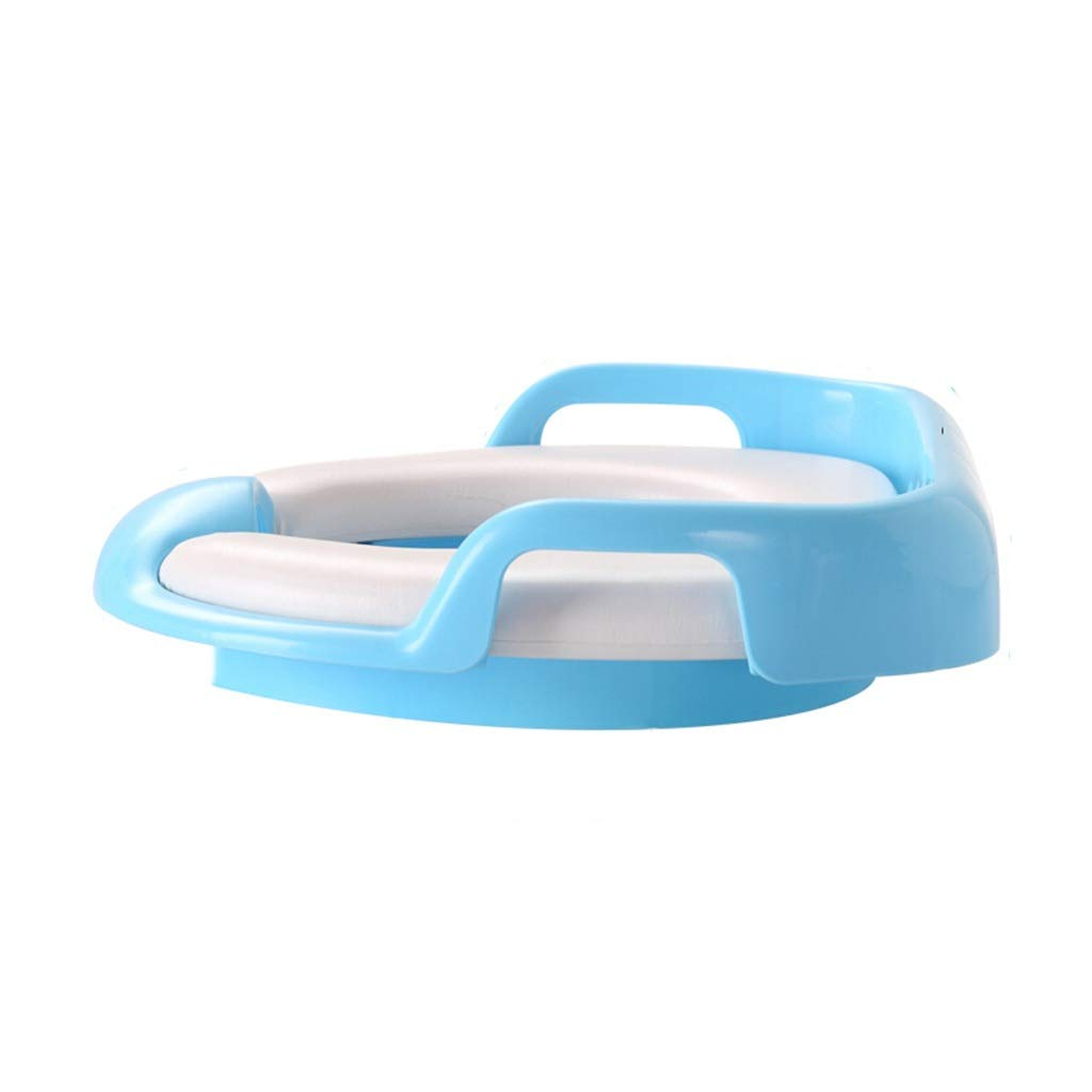 XWJC Children's Toilet Seat Toilet Male Baby Seat Ring Female Child Toilet Seat Pad Infant Toilet Large (Color : Blue)
