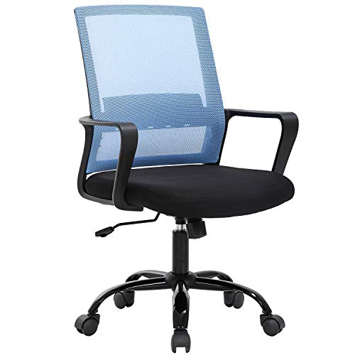 Office Chair Desk Chair Computer Chair Swivel Rolling Executive Lumbar Support Task Mesh Chair Adjustable Stool for Women Men, Blue