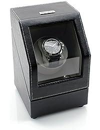 [SALE] Heiden Battery Powered Single Watch Winder in Black Leather